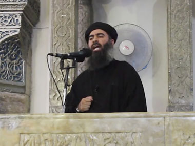 A file photo of Abu Bakr al-Baghdadi. AP