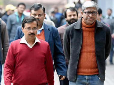 File image of Arvind Kejriwal and Ashutosh. PTI