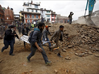 Rescue workers in Nepal. Reuters