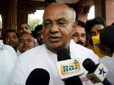 File image of JD(S) leader HD Deve Gowda. AFP