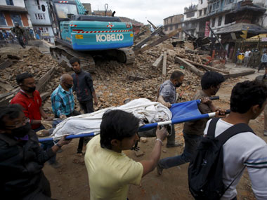An earthquake of magnitude 7.9 hit Nepal on Saturday. Reuters