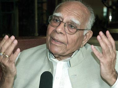 Senior Supreme Court lawyer Ram Jethmalani.