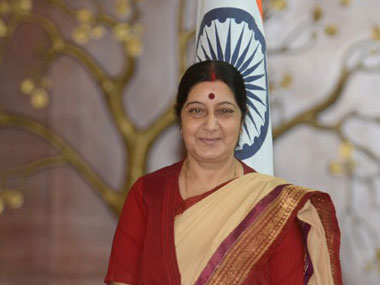 Sushma Swaraj in a file photo. AFP