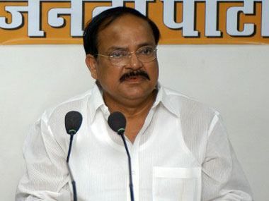 Venkaiah Naidu in a file photo. AFP