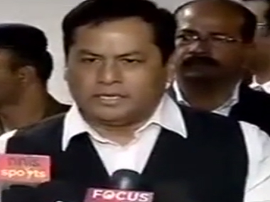 Sports Minister Sonowal. Image courtesy: IBNLive