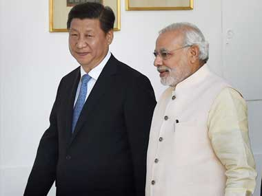 Chinese President Xi Jinping (left) and PM Narendra Modi in a file photo. PTI
