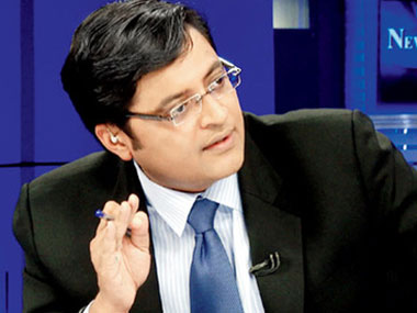 File photo of Arnab Goswami. Image courtesy: CNN-News18