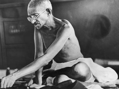 MK Gandhi did not think that helping