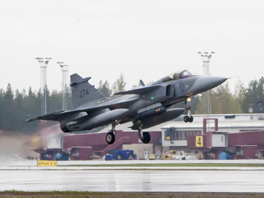 A Gripen fighter jet. Reuters