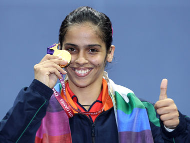 File photo of Saina Nehwal with her medal from the 2012 Olympics. Getty