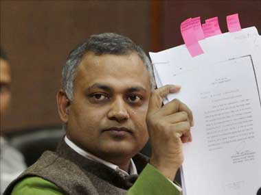 AAP leader Somnath Bharti in trouble again. PTI