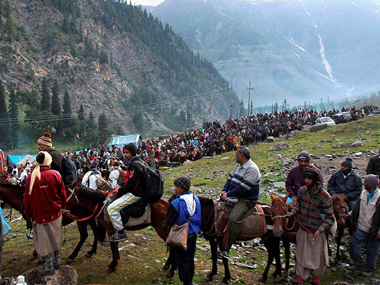 File photo of Amarnath yatra. PTI