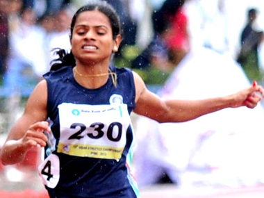 File picture of Dutee Chand. PTI