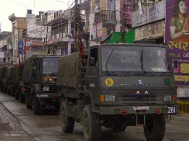 Indian Army trucks. Reuters