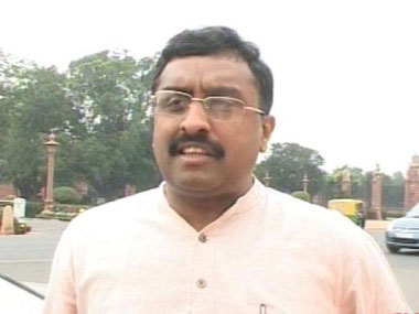 File image of BJP general secretary Ram Madhav. IBN Live
