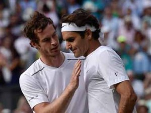 File image of Andy Murray and Roger Federer. AP