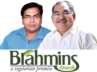 Sreenath Vishnu (left), ED, and V Vishnu Namboodri, Founder and CEO, Brahmins Foods