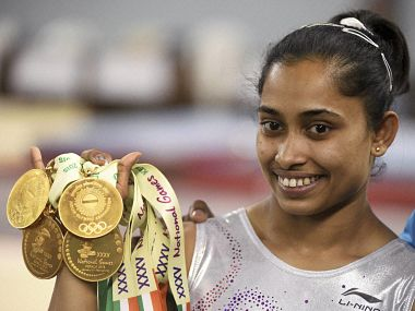 File picture of Dipa Karmakar. PTI