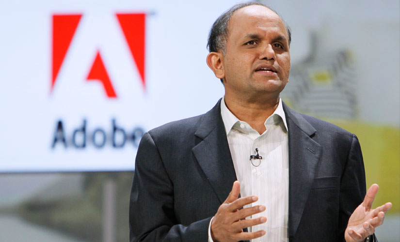 Shantanu Nareayen, president and CEO of Adobe. Reuters