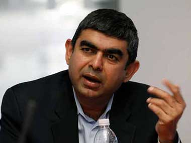 Vishal Sikka, CEO, Infosys. Reuters