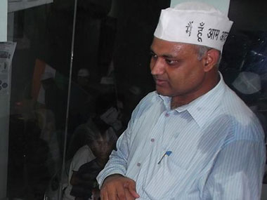 File photo of Somnath Bharti. Image Credit: Facebook