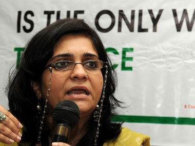File image of Teesta Setalvad. AFP
