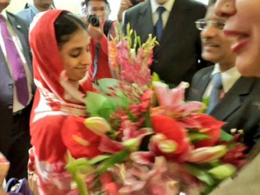 Geeta arrives in India. Image Credit: Twitter @MEAIndia