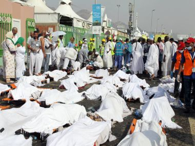 File photo of the Hajj stampede victims. AFP
