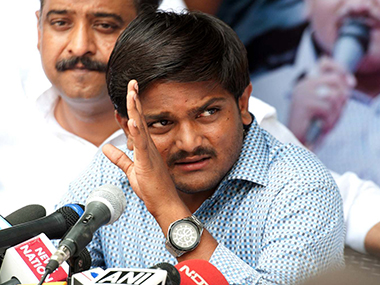 Hardik Patel was arrested on Monday on sedition charge. PTI