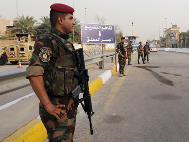 Security forces in Iraq. AP
