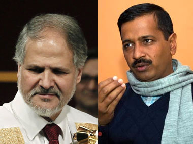 Delhi L-G Najeeb Jung and CM Arvind Kejriwal. Reuters/Firstpost