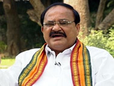 Union Minister Venkaiah Naidu. Image courtesy ibnlive.com