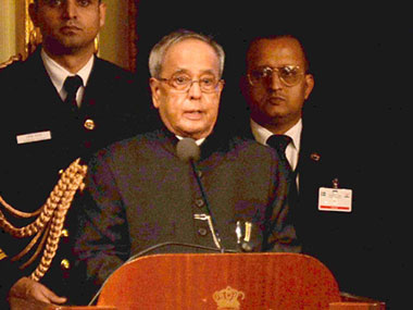 File photo of President Pranab Mukherjee. PTI