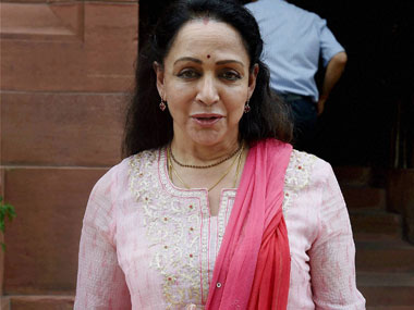 BJP Mp from Mahura Hema Malini. PTi