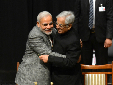 Narendra Modi and Mufti Mohammed Sayeed in a file photo. AFP