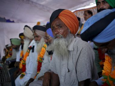 Ex-servicemen who are protesting for OROP. Reuters