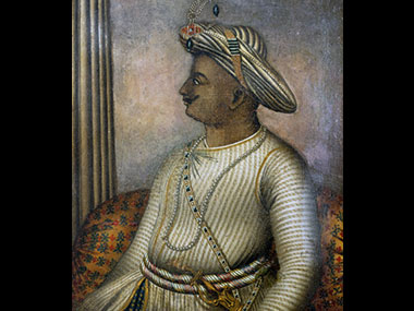 A portrait of Tipu Sultan. Getty images