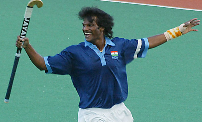 The inimitable smile of Dhanraj Pillay. Reuters