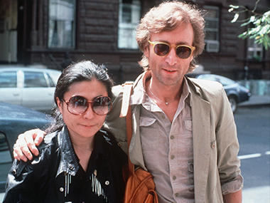 John Lennon and Yoko Ono in an AP file photo.