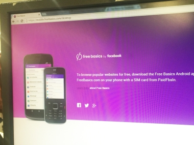 Facebook Free Basics Desktop. tech2