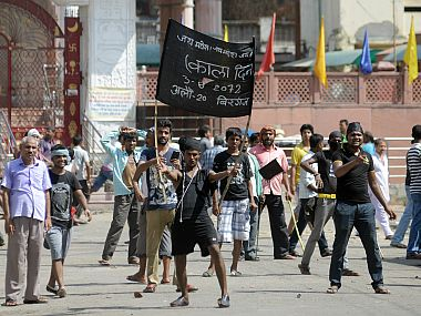 Protests in Nepal. File photo. Image courtesy: AP