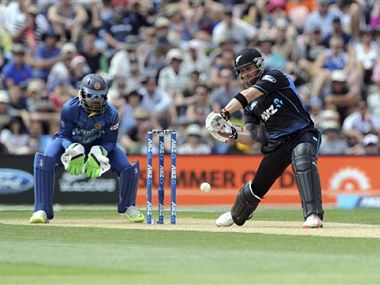 File picture of Brendon McCullum (R). AP