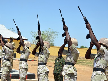 File image of Nigerian soldiers. AFP
