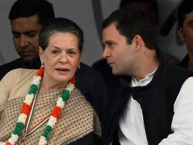 Sonia Gandhi and Rahul Gandhi in a file photo. PTI