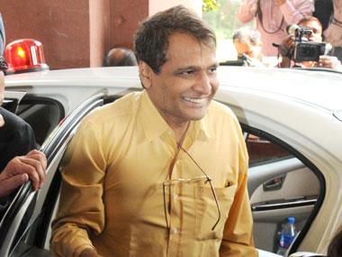 Railway Minister Suresh Prabhu. Image courtesy: PIB