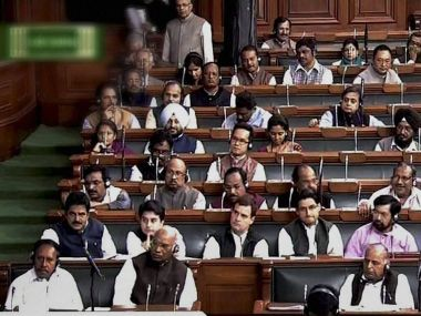 The Opposition bench during the Winter Session in Lok Sabha. PTI