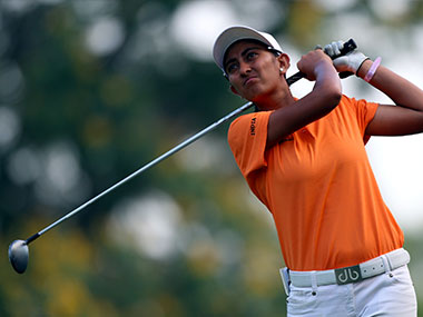 File photo of Aditi Ashok. Getty Images