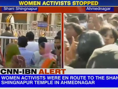 Screenshot from IBNLive video