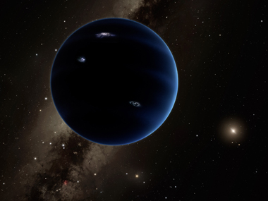 This artist's concept illustration courtesy of Caltech/Robert Hurt shows a distant view from Planet Nine back towards the sun. AFP