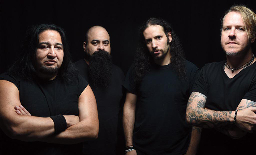 Studio image of Fear Factory. Twitter @FearFactory